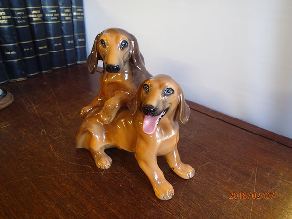 Glazed Dog Figures